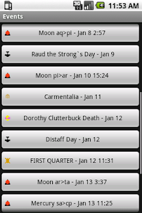 Pagan Calendar Pro - screenshot thumbnail