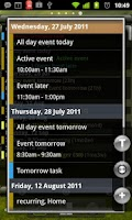 Screenshot of Agenda Widget Plus