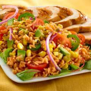 Rice & Corn Salad With Chicken.