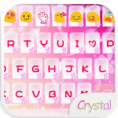 Crystal Heart Emoji Keyboard