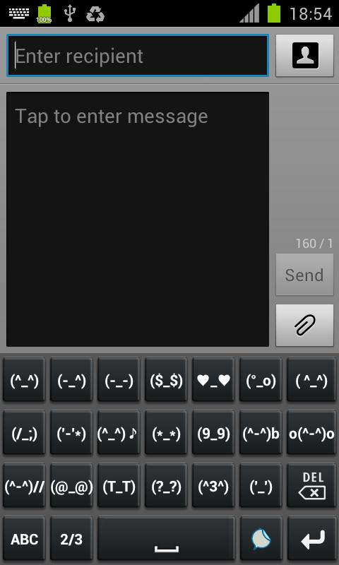 Emoji emotion keyboard - screenshot