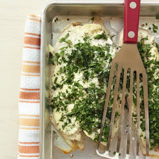 Baked Tilapia with Fresh Herbs.