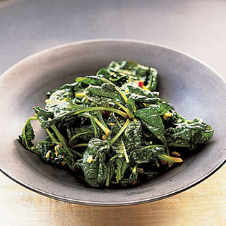 Cantonese Spinach with Garlic.