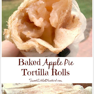 Baked Apple Pie Tortilla Rolls