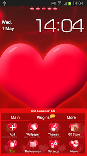 Go Launcher EX Love Theme - screenshot thumbnail