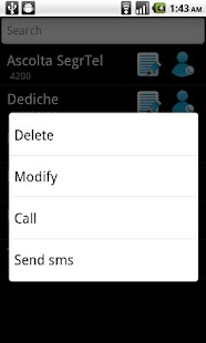 SIM contacts manager - screenshot thumbnail