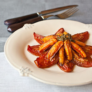 Confit Tomato and Carrot Salad