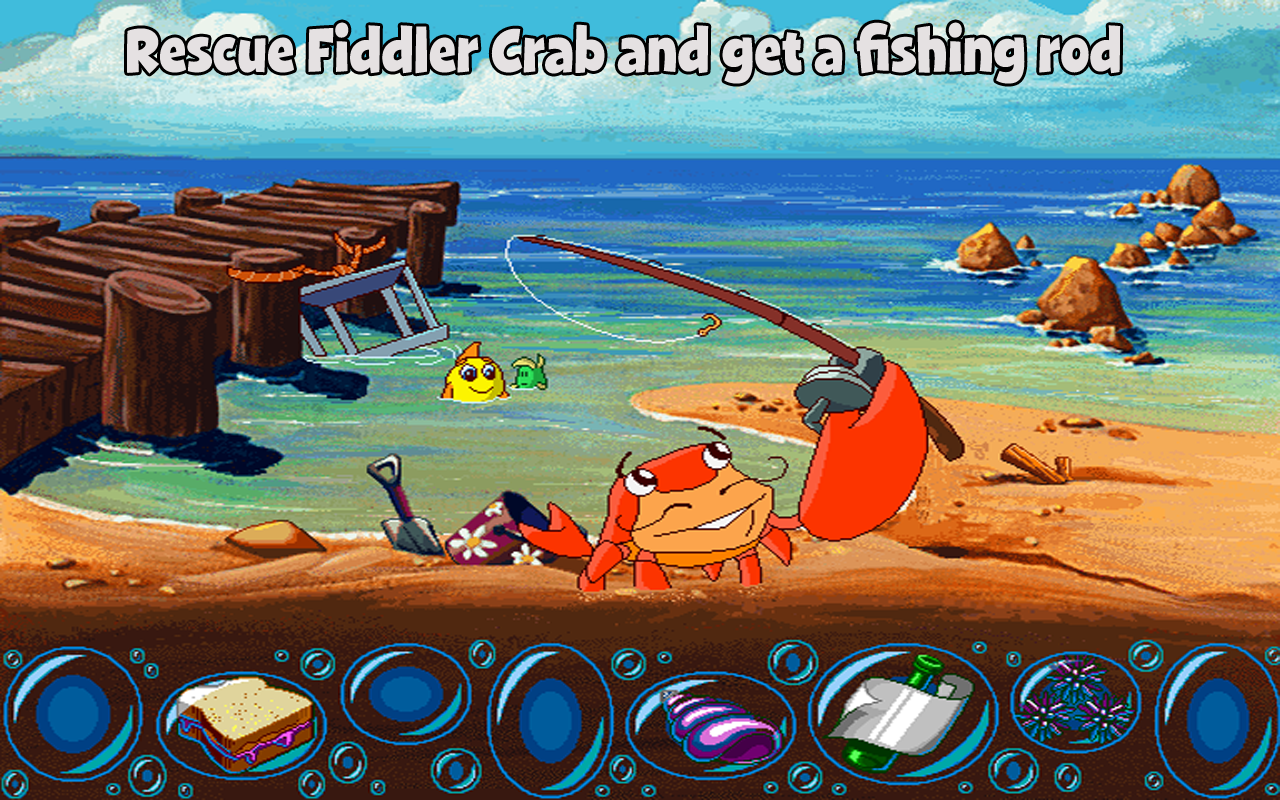 Freddi fish missing kelp seeds android apps on google play for The fish game