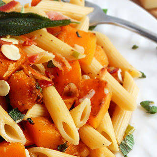 Pasta with Bacon, Butternut Squash and Sage for Two