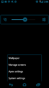 Holo Blue Glow CM11 Theme - screenshot thumbnail