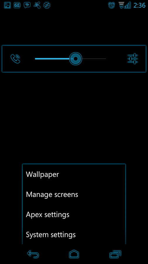 Holo Blue Glow CM11 Theme - screenshot