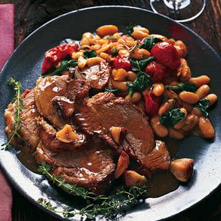 Wine-Braised Leg of Lamb with Garlic