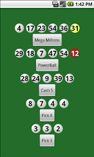 Lottery Numbers - screenshot thumbnail