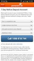 Screenshot of permanent tsb mobile banking