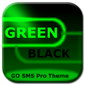 GO SMS Green Black Neon