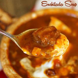 Beef Enchilada Slow Cooker Soup.