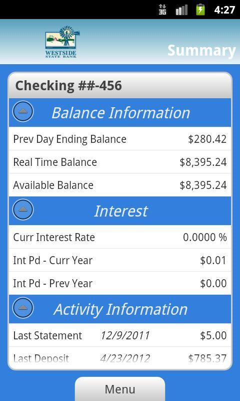 Westside State Bank - screenshot