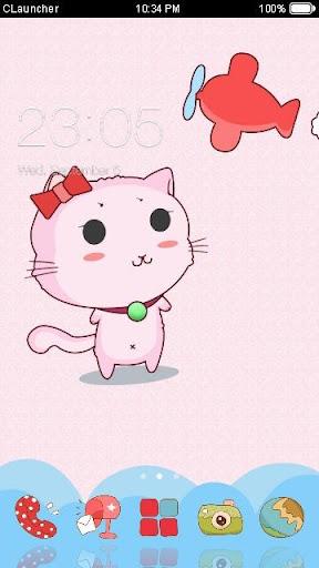 '可爱猫咪'手机主题——畅游桌面