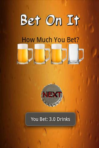 Bet On It (drinking games)- screenshot