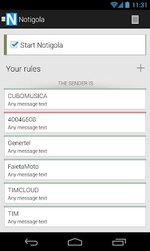 Notigola SMS Filter