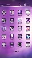 Screenshot of Eternal Purple GO Theme