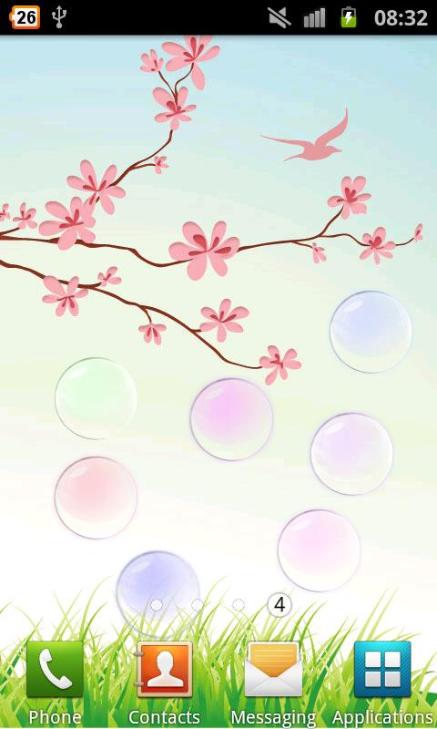 Collide Bubbles Live Wallpaper- screenshot