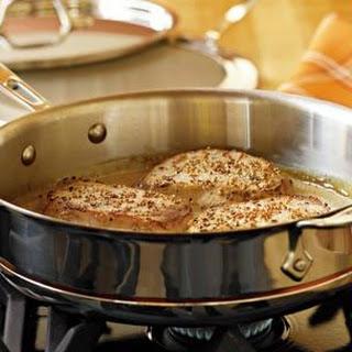 Pork Cutlets with Mustard Sauce.