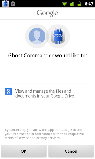 GoogleDrive for GhostCommander