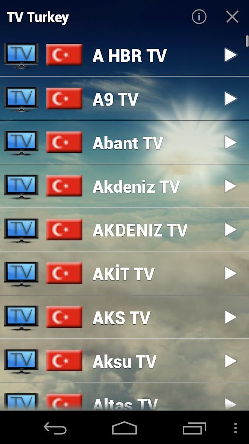 TV Live Turkey - screenshot