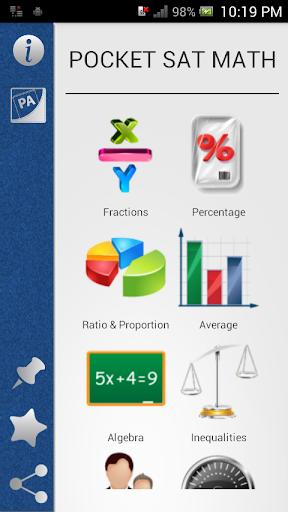 Pocket SAT Math