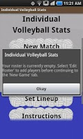 Screenshot of Individual Volleyball Stats