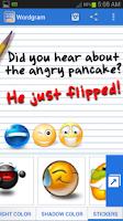Screenshot of Wordgram (Instagram Text app)