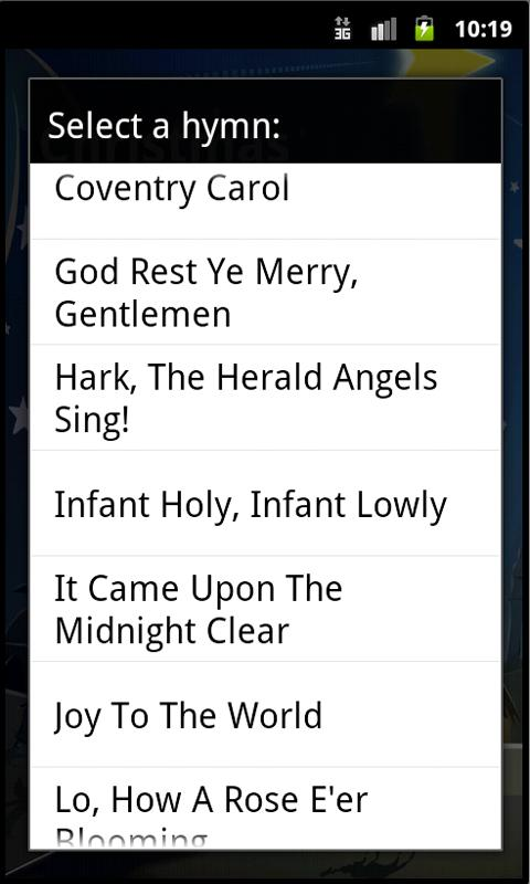 Christmas Hymnal - screenshot