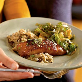 Bourbon-Glazed Salmon.