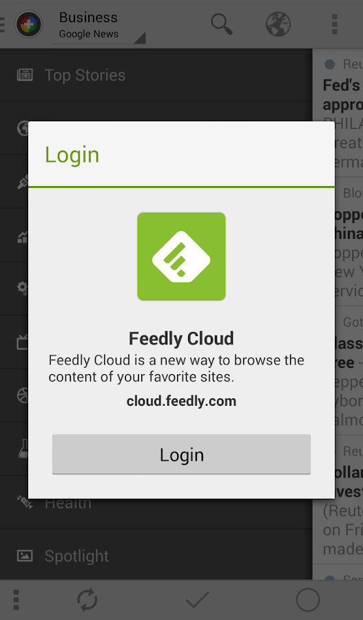 Feedly extension for News+ - screenshot