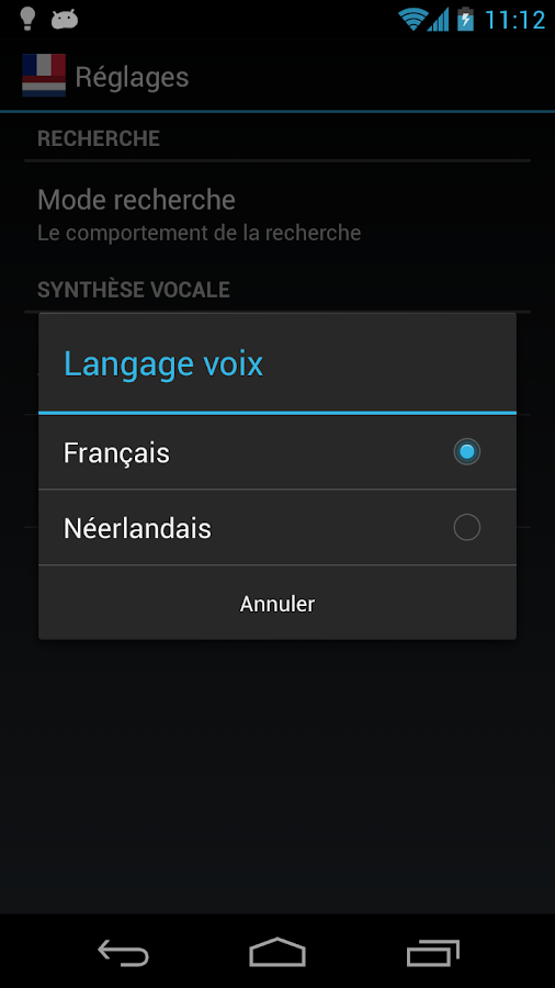 Offline French Dutch Dict.- screenshot