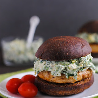Spinach-Artichoke Turkey Burgers Recipe
