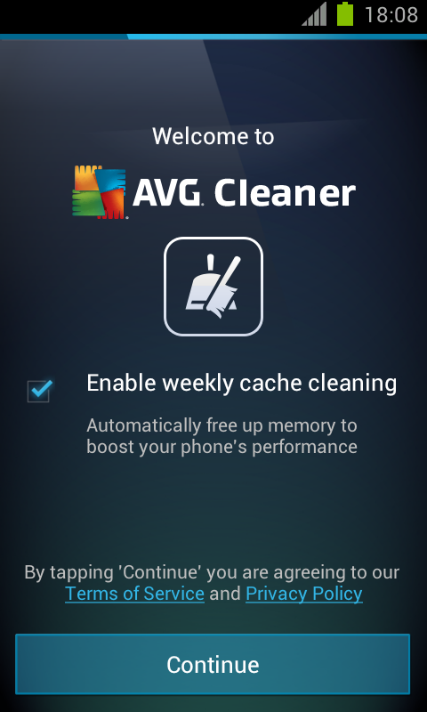 AVG Memory & Cache Cleaner - screenshot