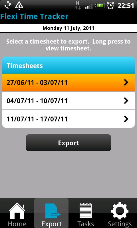 Flexi Time Tracker Lite - screenshot