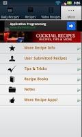 Screenshot of Cocktail Recipes!