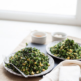 Chopped Kale Salad + Honey Ginger Dressing.