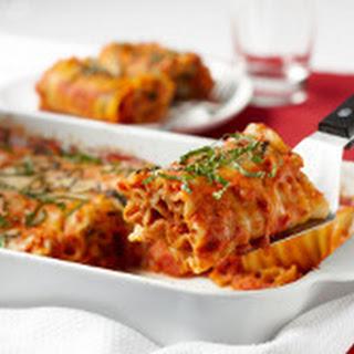 Festive Lasagna Roll-Ups with Salsa Rosa Sauce