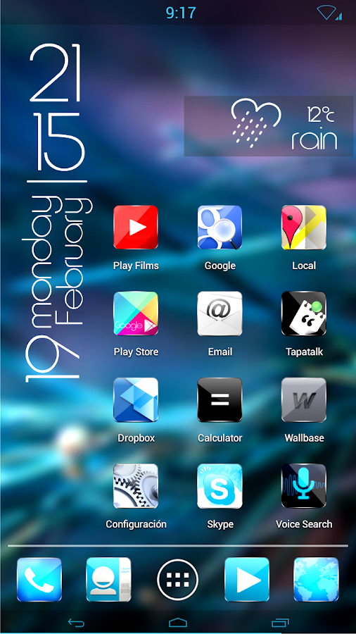 Kitkat material glow HD icons - screenshot