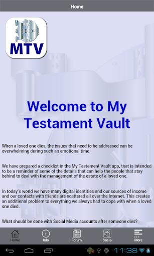 My Testament Vault