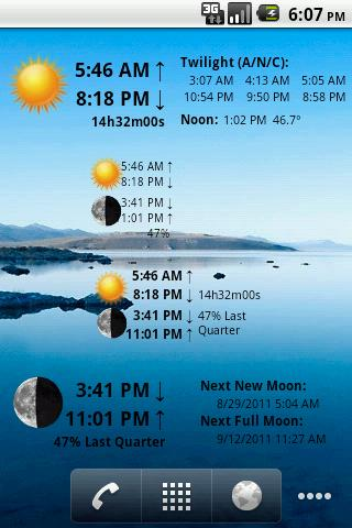 LunaSolCal Widgets- screenshot