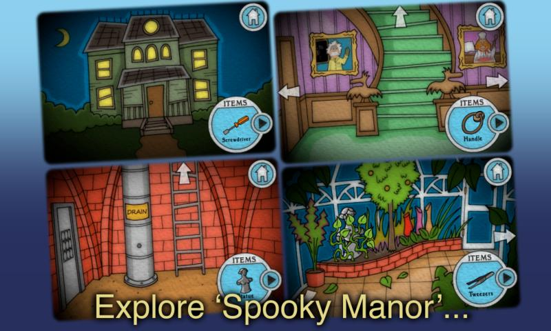 Spooky Manor - Mystery Game- screenshot