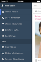 Screenshot of Seguros SURA