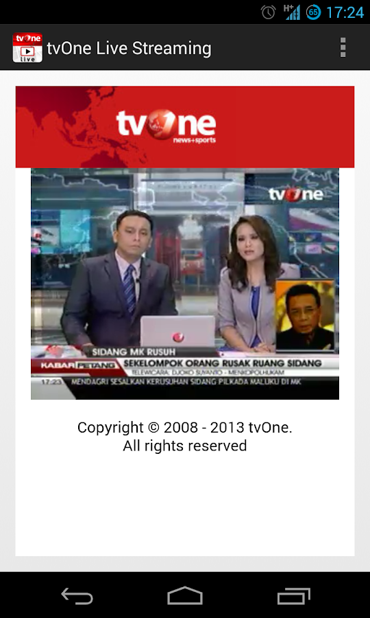 tvOne Live Streaming- screenshot