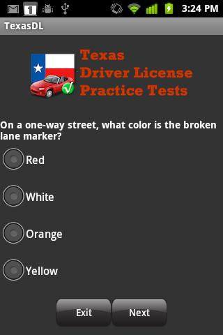 Texas Driver License Practice- screenshot