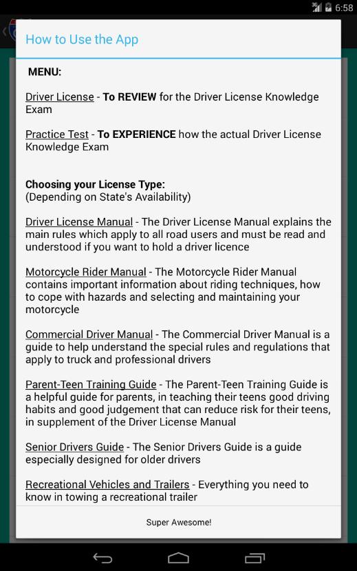 New York DMV Reviewer Screenshot